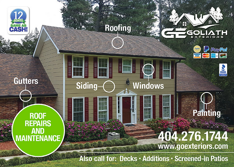 House roofing, siding, gutters, painting, and windows