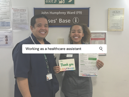 Working as a healthcare assistant