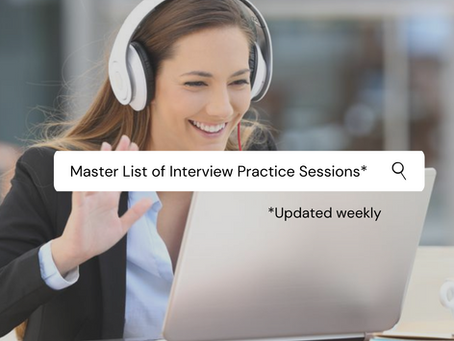 Interview practice sessions MASTER LIST