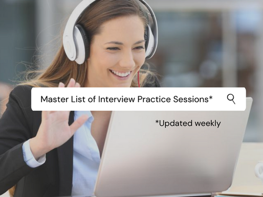 Interview practice sessions Master list (2020/21 entry)