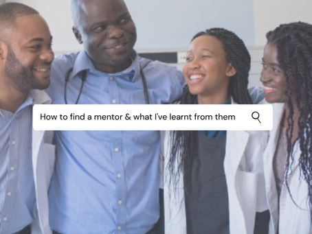 How to find a mentor and what I've learnt from my mentors