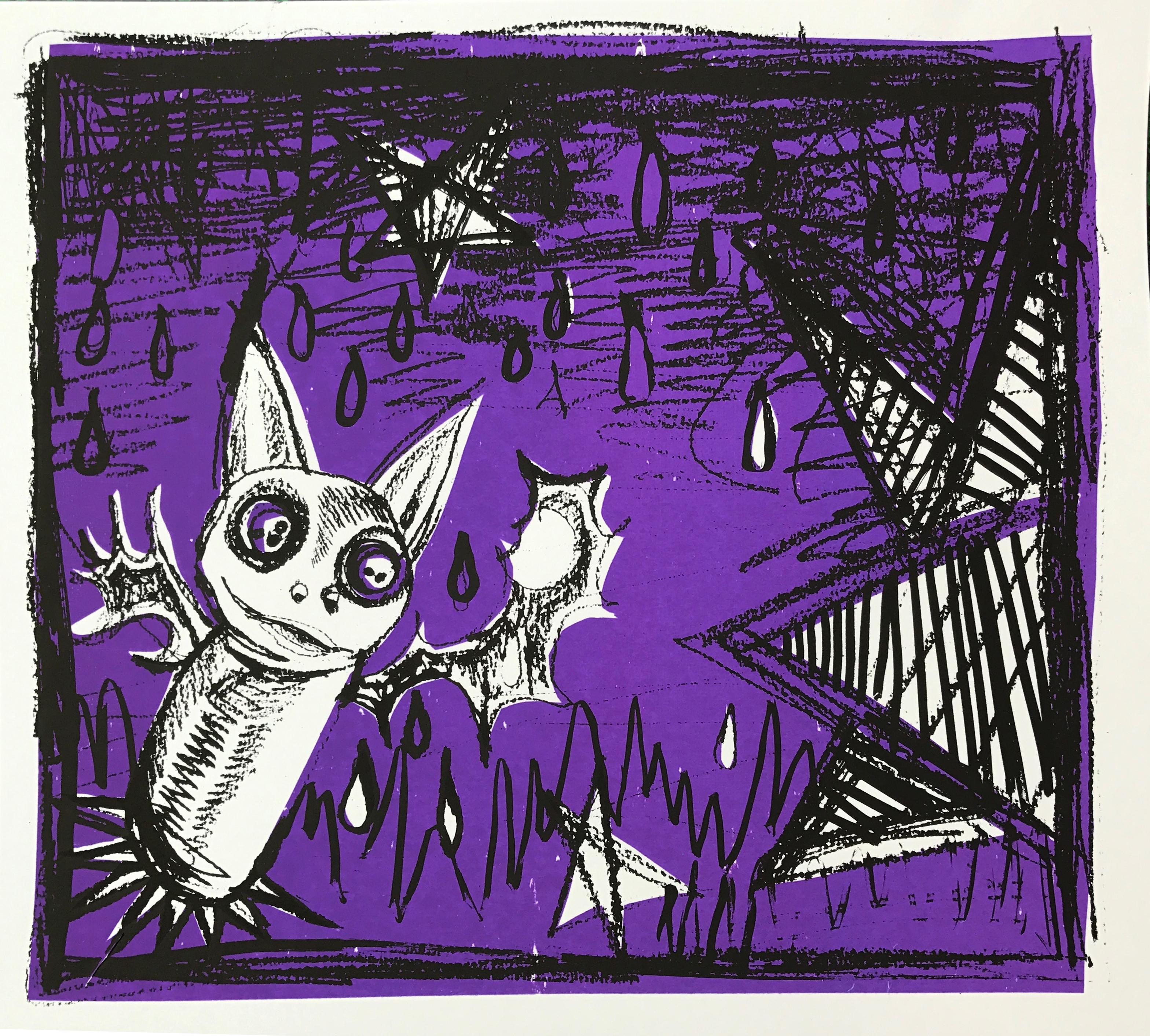 A bat and stars