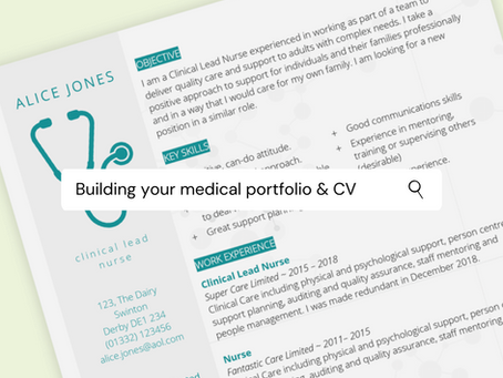 Building your medical portfolio and CV
