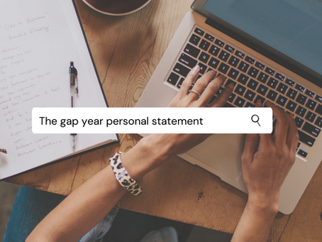 How will my personal statement change if I am taking a gap year?