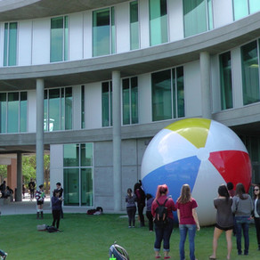 The Giant Tricolored Beach Ball