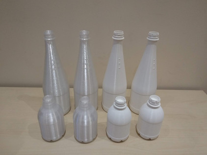 3D production of bottle prototypes
