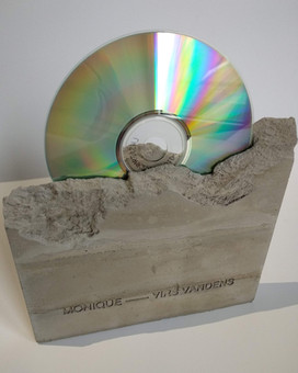 Concrete casting - CD album decoration