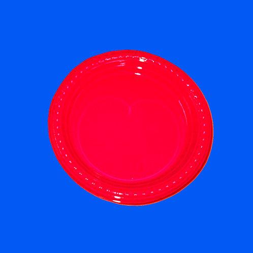 Plato Plástico 9 Rojo Solo