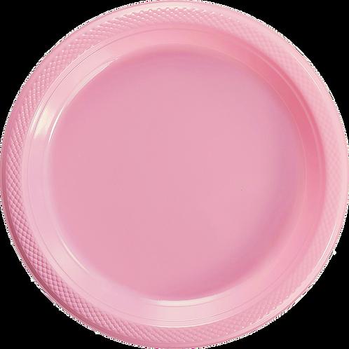 Plato Plástico 10.2 Rosa Promoción Solo