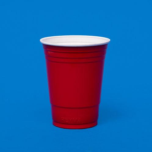 Vaso Plástico EU Rojo Reyma