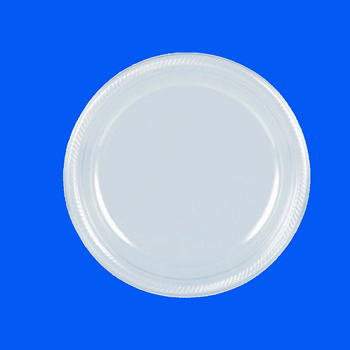 Plato Plástico 6.5 Blanco Solo