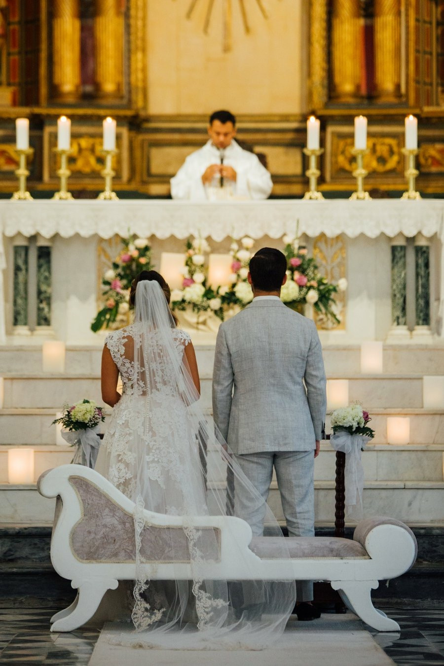Ceremony was held in a church built in the 1500's.