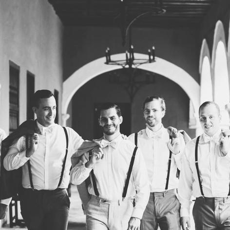 The Groom with his Best Men