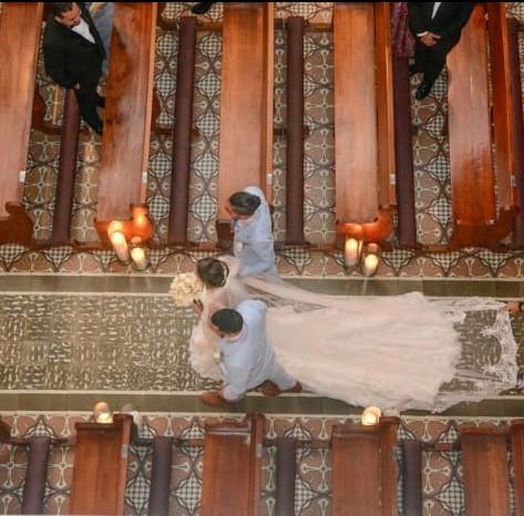 Sofi Entering the church