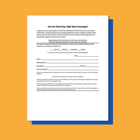 Information and Forms for IATSE PAC Cont