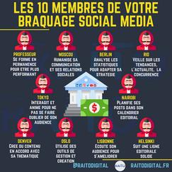 Les 10 membres de votre braquage social