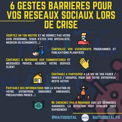 6 gestes barrieres pour vos reseaux soci