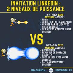 invitation linkedin _  2 niveaux de puis