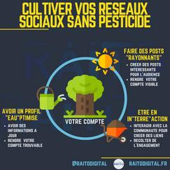 Cultiver vos réseaux sociaux sans pestic