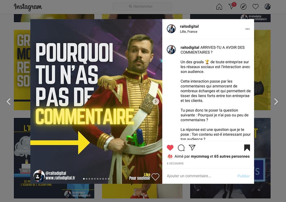 Avoir un profil Instagram pour communiquer grâce au contenu visuel