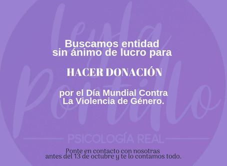 DONACIÓN por el Día Mundial Contra La Violencia de Género