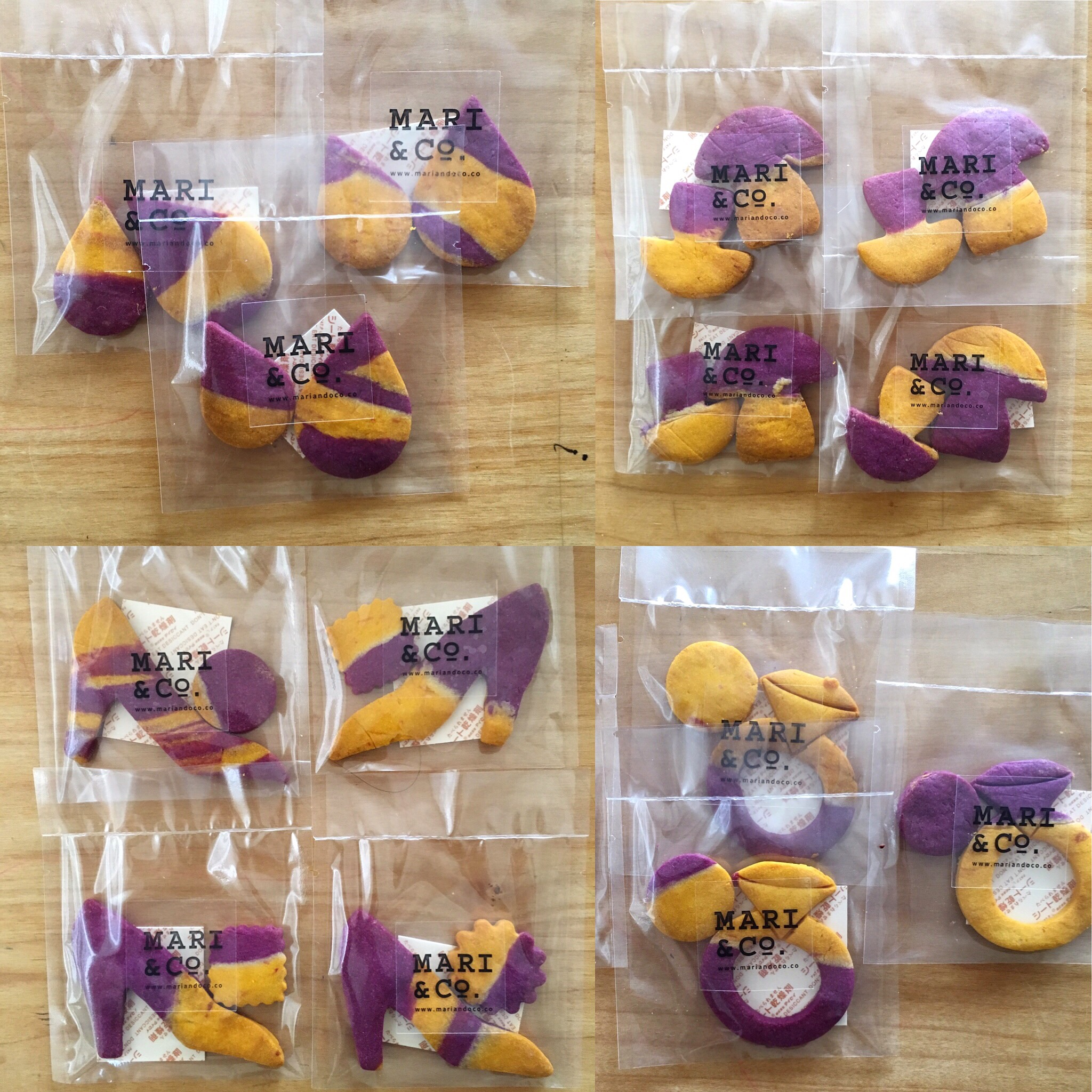 紫芋と人参のクッキー