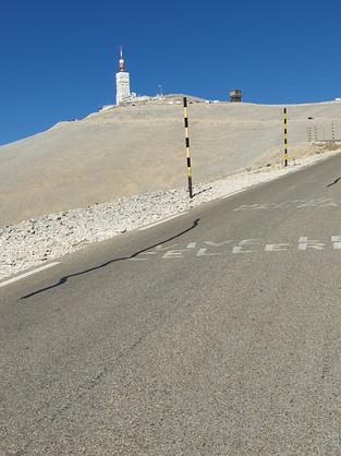 Anstieg zum Mont Ventoux