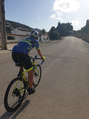 Radfreund in Spanien