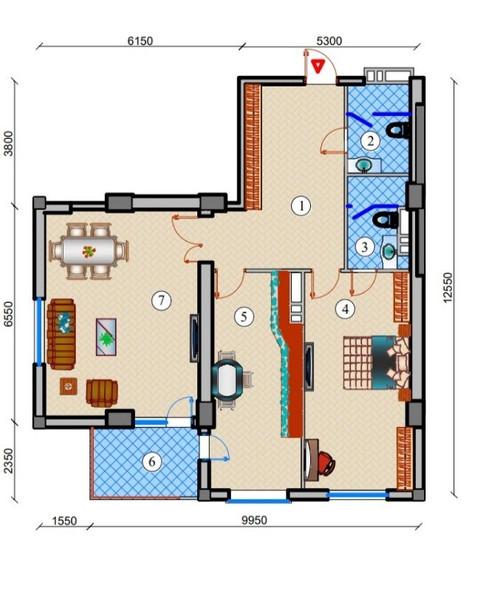 2 otaq - 120 m2
