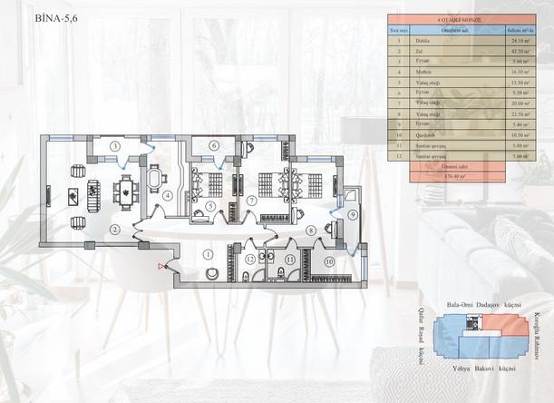 176.40 m2 texniki görünüş