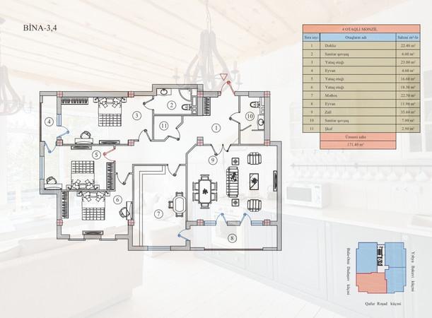 171.40 m2 texniki görünüş