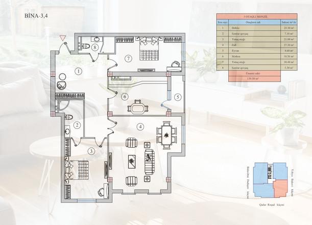 139.50 m2 texniki görünüş