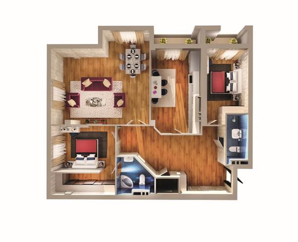 3 otaq - 142.60 m2