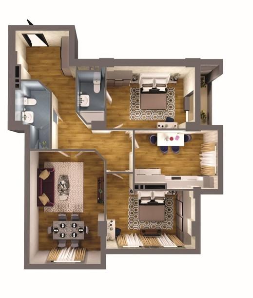 3 otaqlı - 113.50 m2