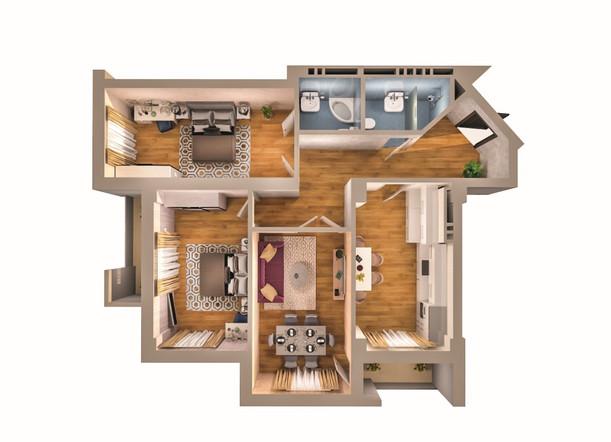 3 otaq - 116.50 m2