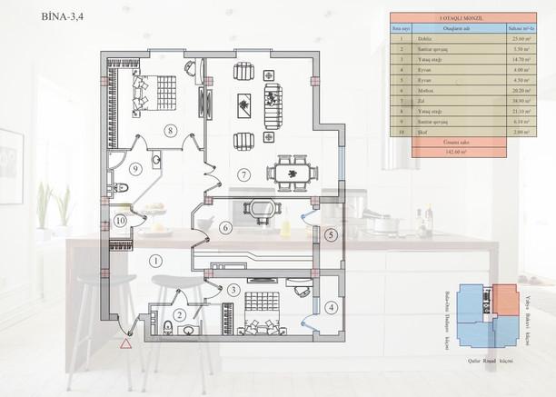 142.60 m2 texniki görünüş