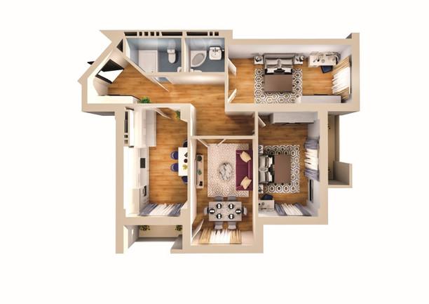 3 otaq - 116.90 m2