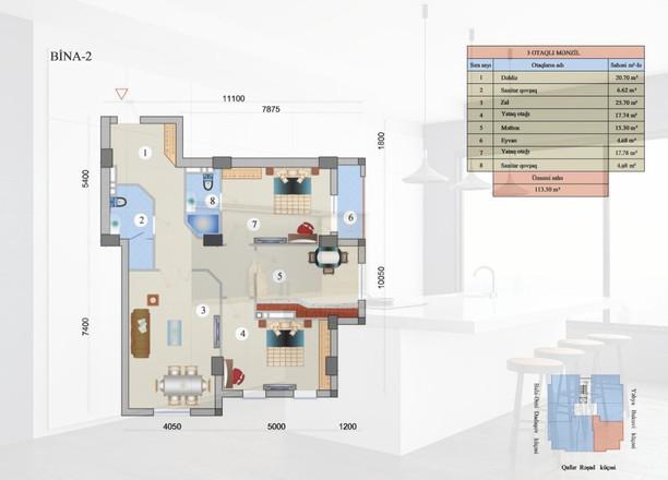 113.50 m2 texniki görünüş