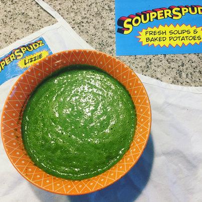 foodtruck green velvet soup.JPG