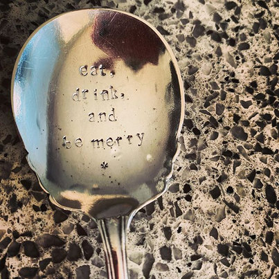 This beautiful little silver spoon was g