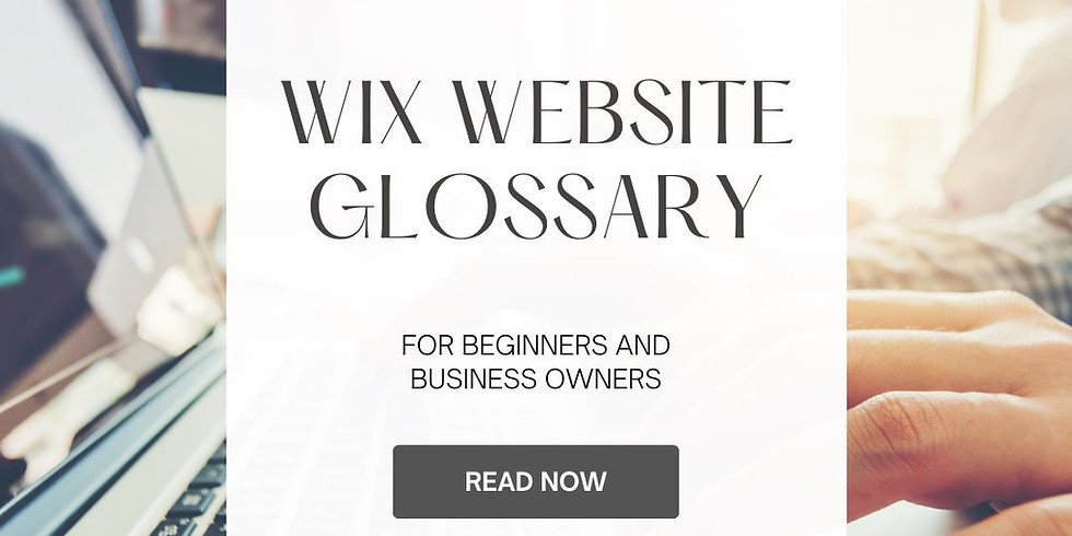 Wix Website Glossary