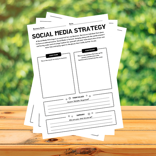 10 Page - Social Media Strategy Workbook