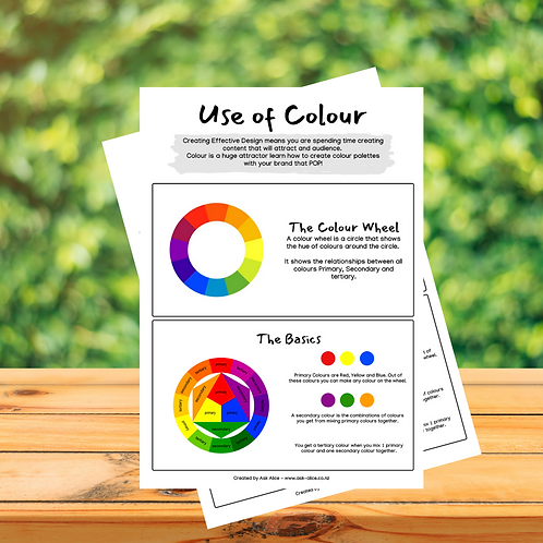 2 Page - Use of Colour Guide