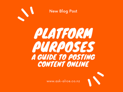 Platforms and Posting - A guide on where to be.