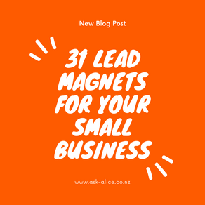 31 Lead Magnets for your Small Business