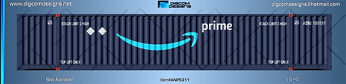 N Amazon Prime 53' Container
