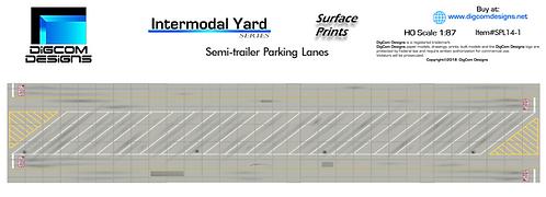 HO- Semi-trailer Parking Lanes / Surface Print