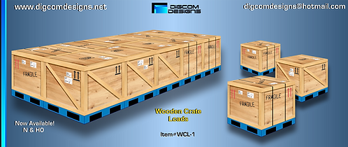 HO- Wooden Crate Load on pallets