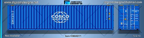 N- COSCO shipping (new logo) 40' dry