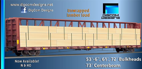 HO-Unwrapped Lumber Load for 73' Centerbeam
